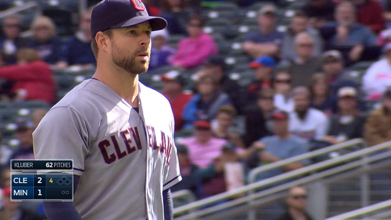 Kluber claims AL Player of the Week honor