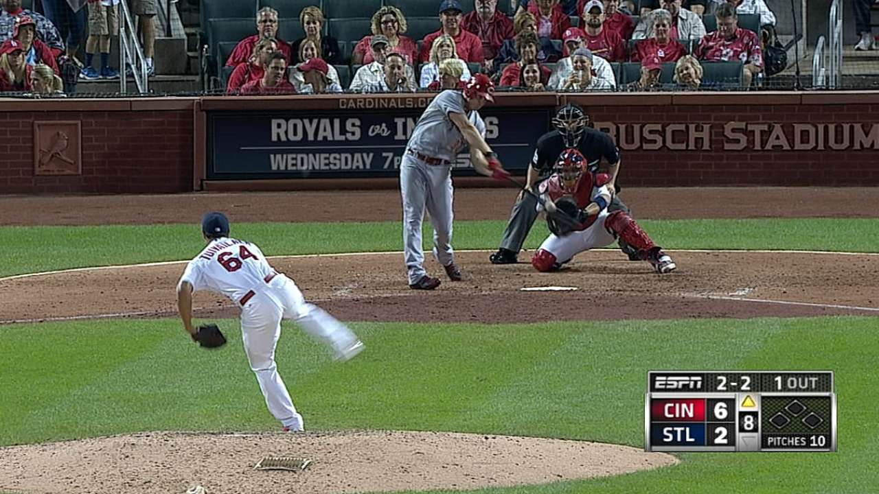 Simon, homers help Reds leave St. Louis with win