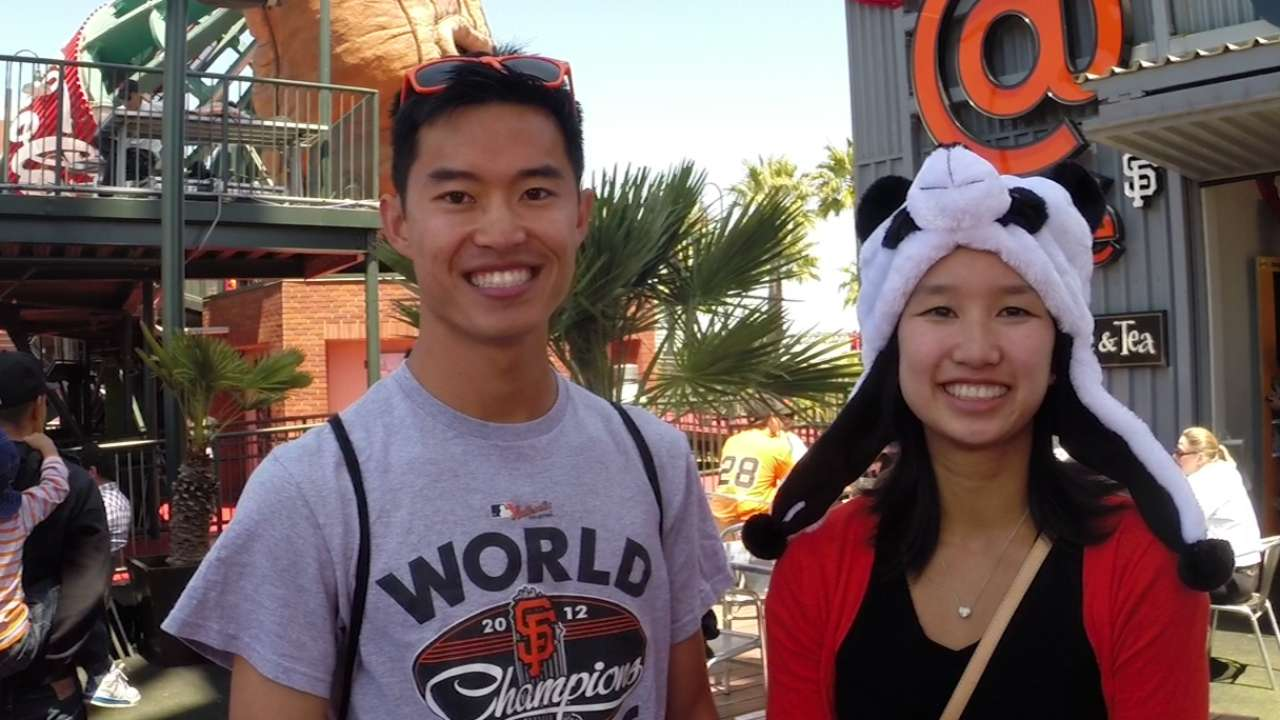 Young love on display during 'Bucks' at AT&T Park