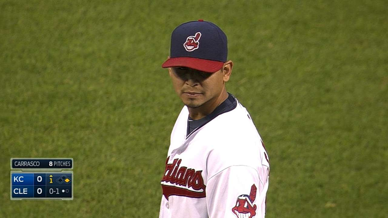 Tribe's playoff pursuit stalls in loss to Royals