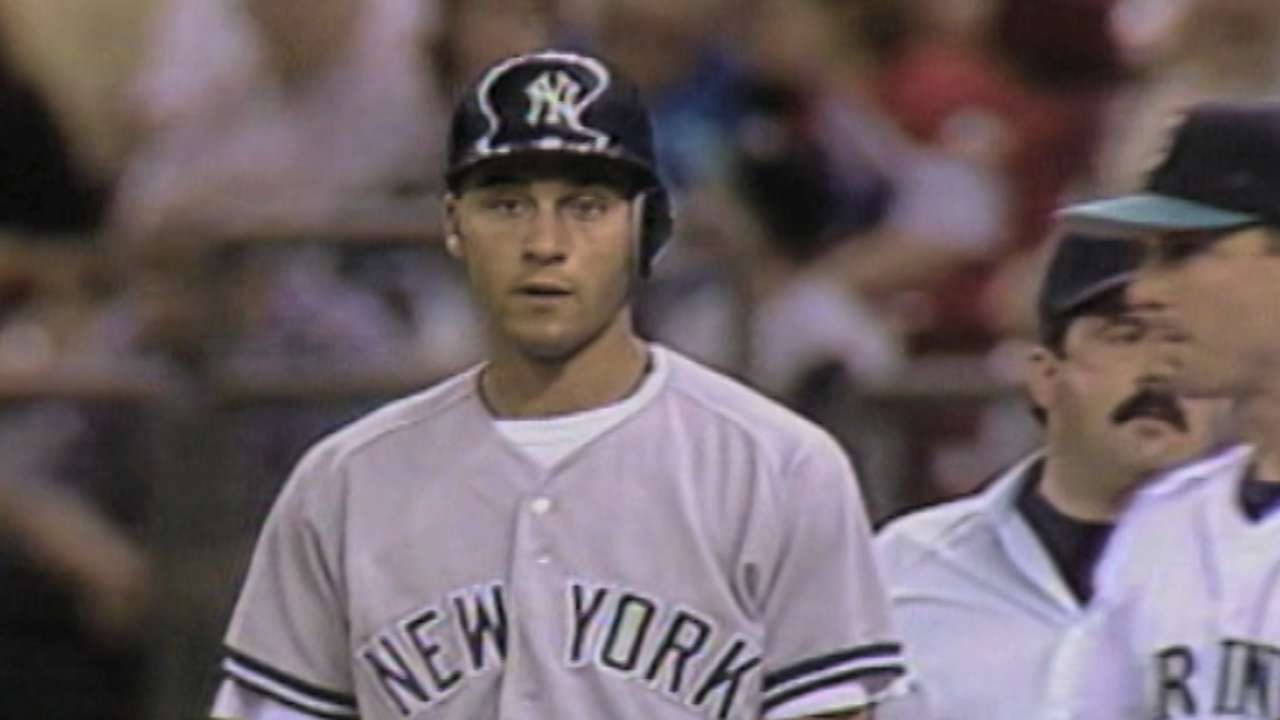 Jeter's first career hit