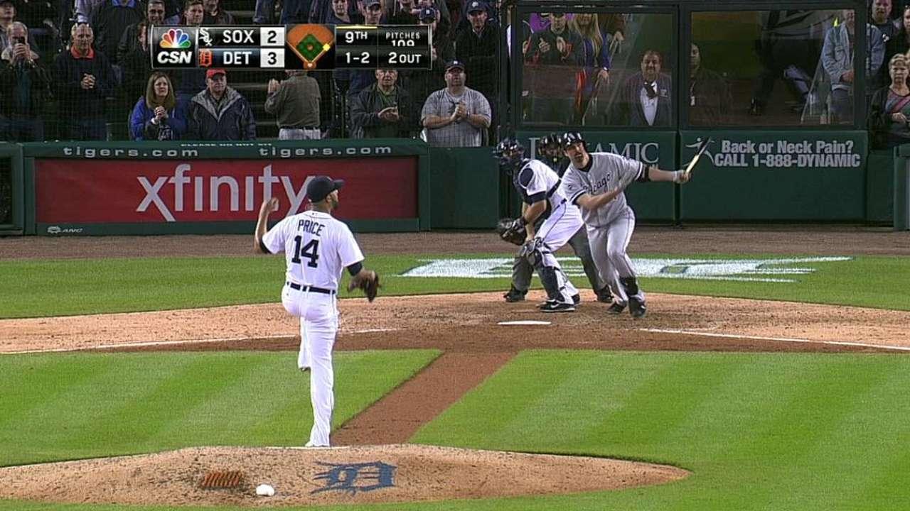 White Sox armaron ataque pero cayeron en Detroit