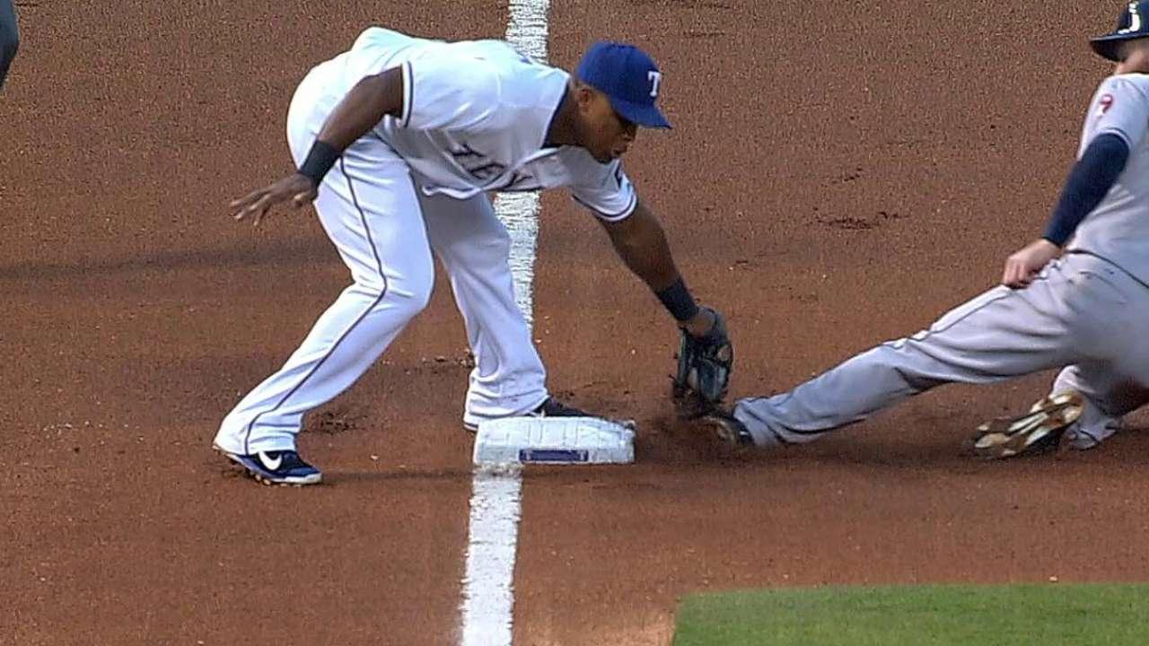 Rangers win challenge, halt Astros' first-inning rally