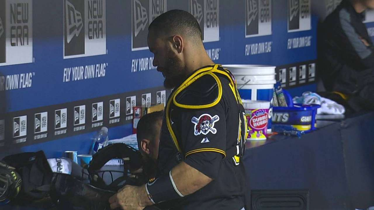 Martin out of lineup with sore hamstring