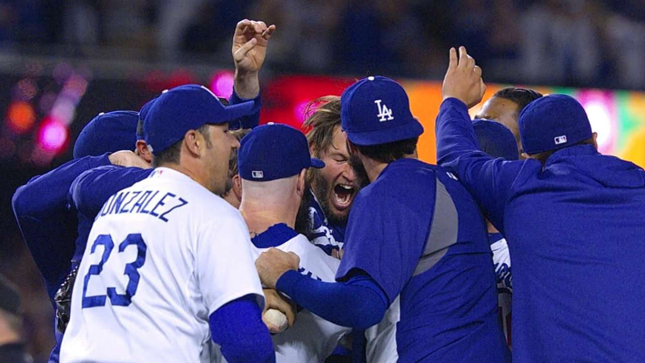 After grind of season, Dodgers let loose in celebration
