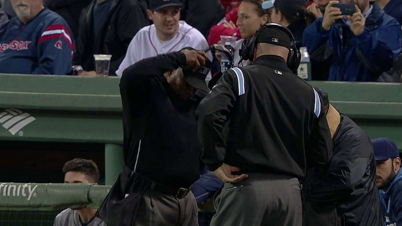 Overturned call ends second inning
