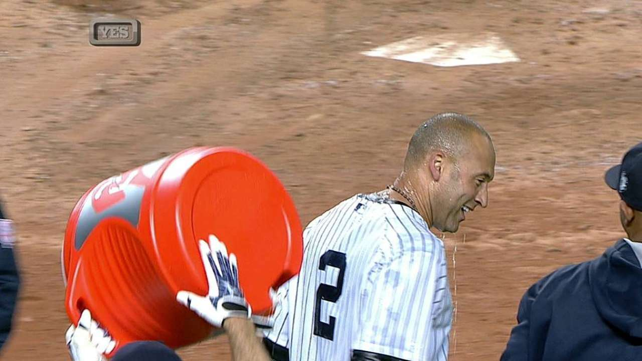 Core Four helps celebrate Jeter's storybook night