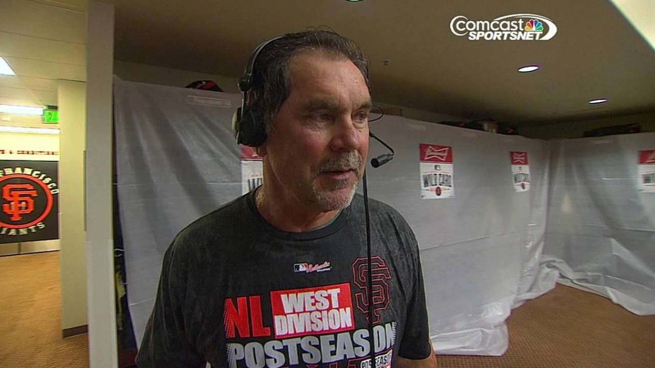 Bochy sees positives in advancing as Wild Card