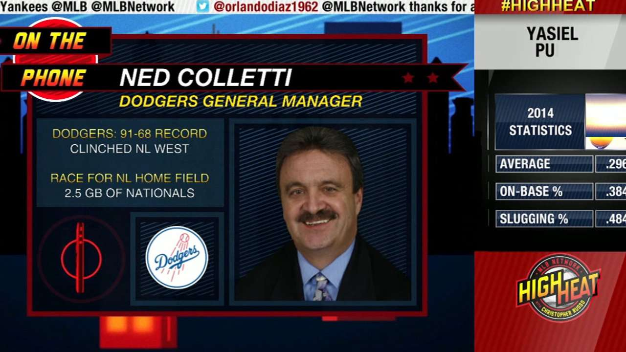 Colletti looks back and ahead to Dodgers' postseason
