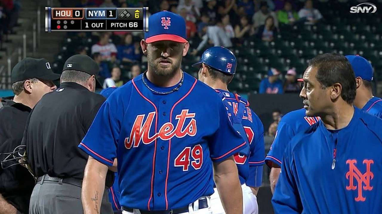 Niese exits final start with elevated heart rate