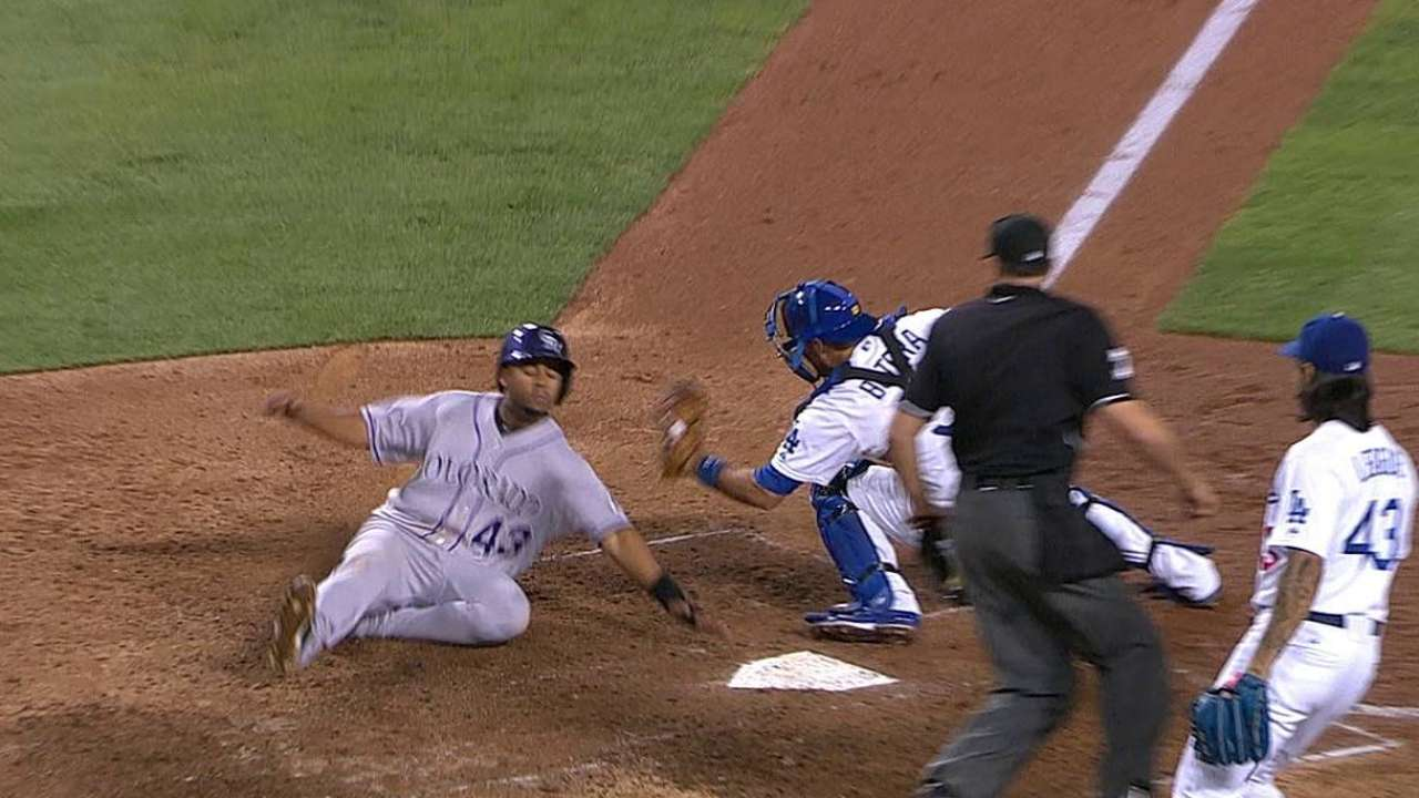 Rockies lose challenge on out call at plate