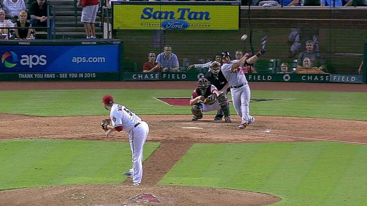 Peralta's go-ahead knock in 10th