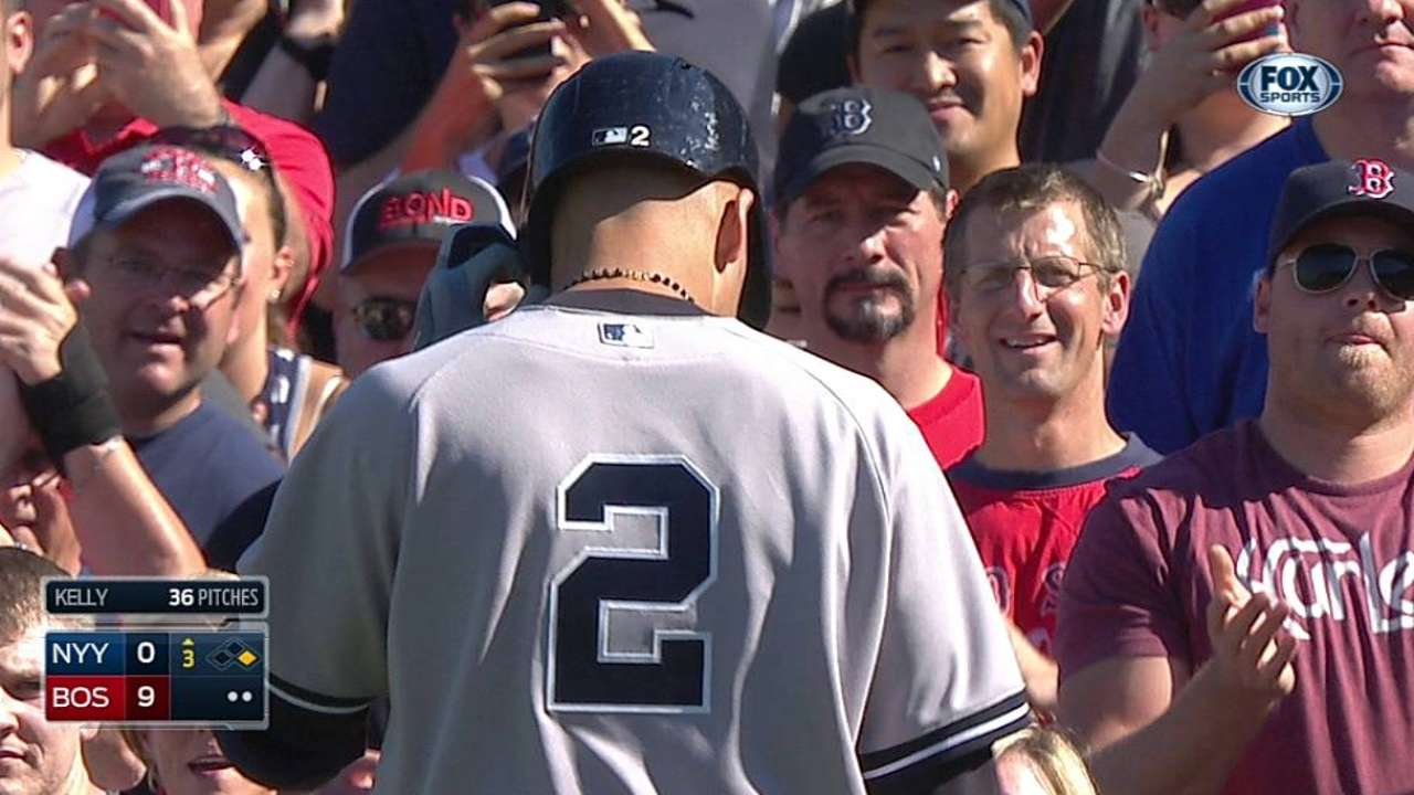 Tanaka has rough outing in Jeter's penultimate game