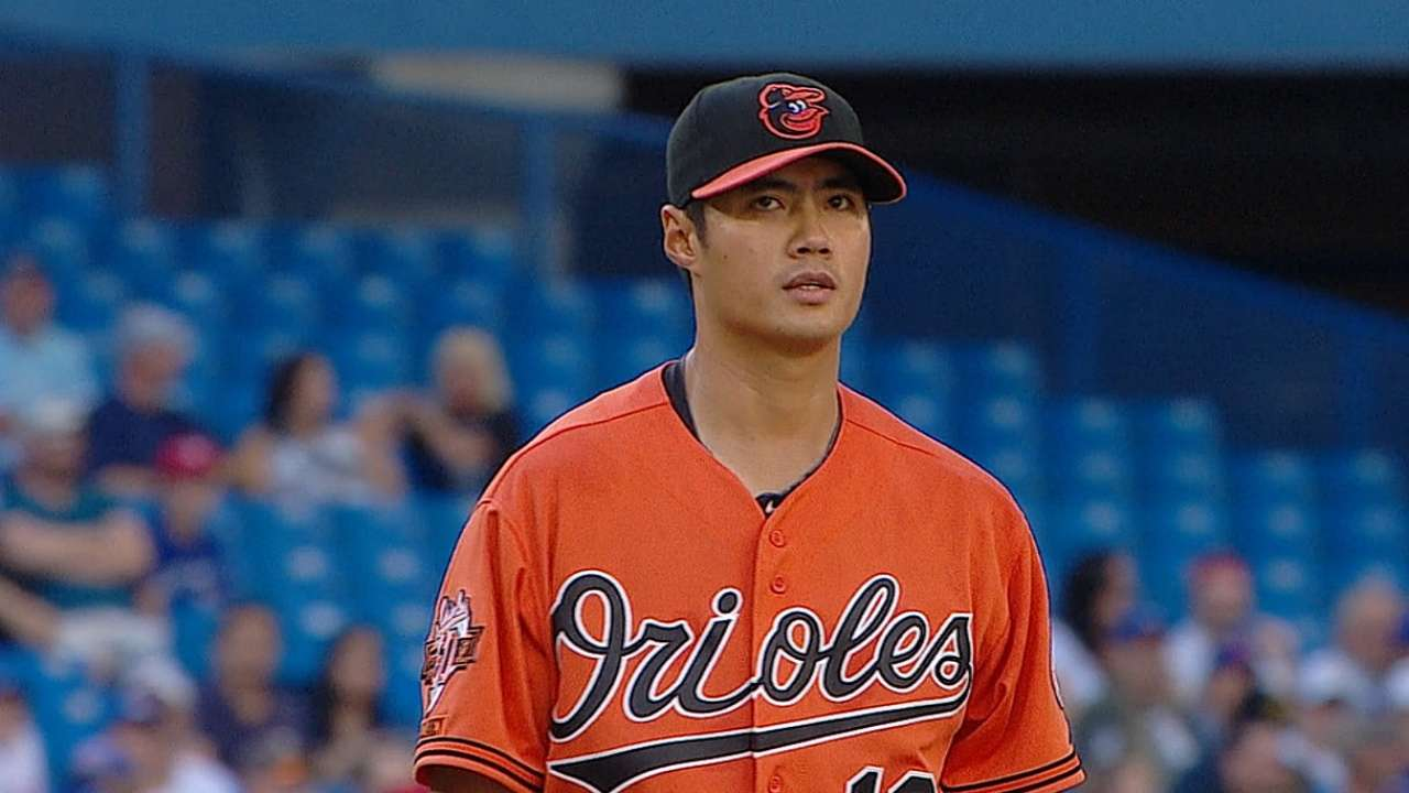 Chen falls short of 17th victory in loss to Jays