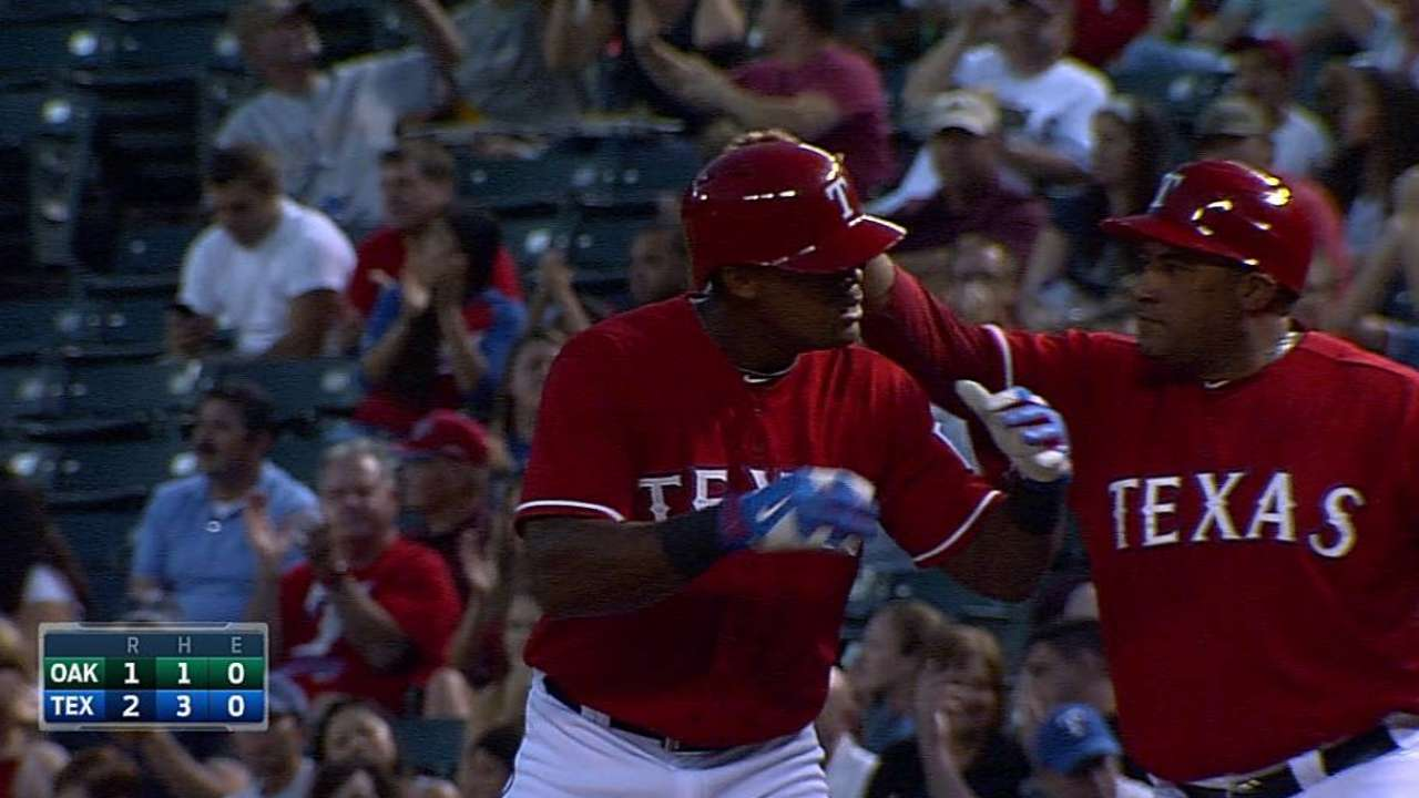Rangers do their part to delay A's clinch party