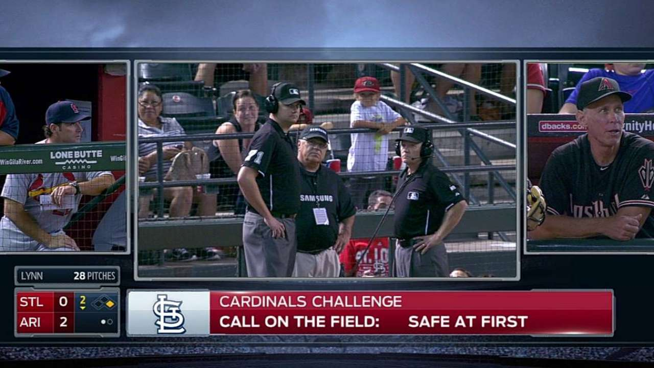 Cards lose challenge as safe call at first stands