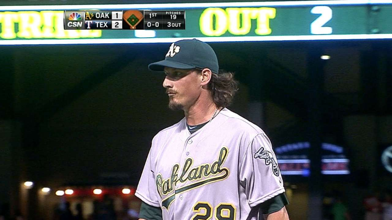 A's fall short vs. Rangers in bid to clinch WC spot