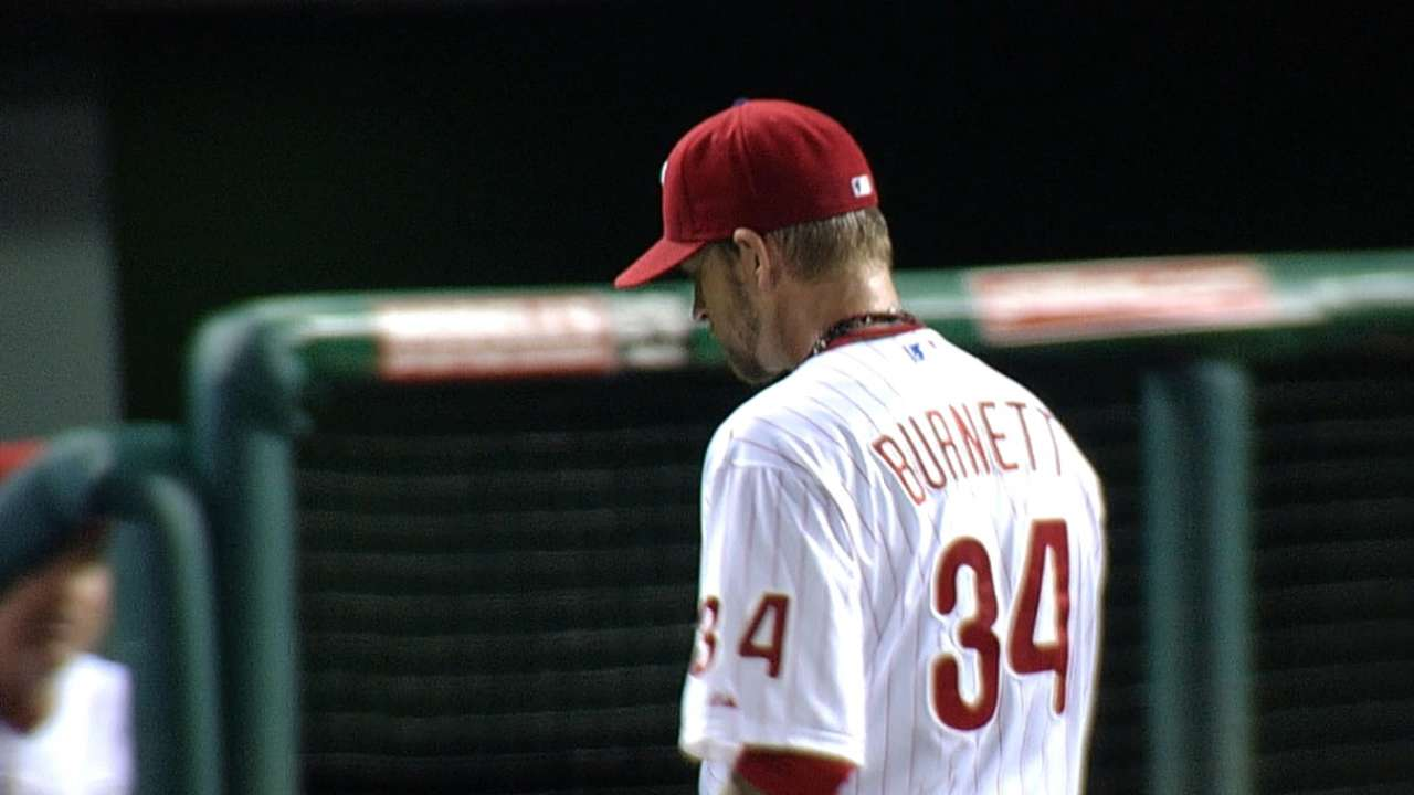 Phillies come up short in Burnett's final outing
