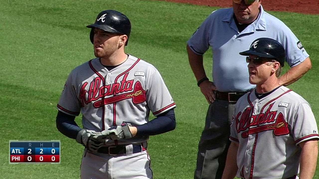 Freeman sets Braves season record for innings played