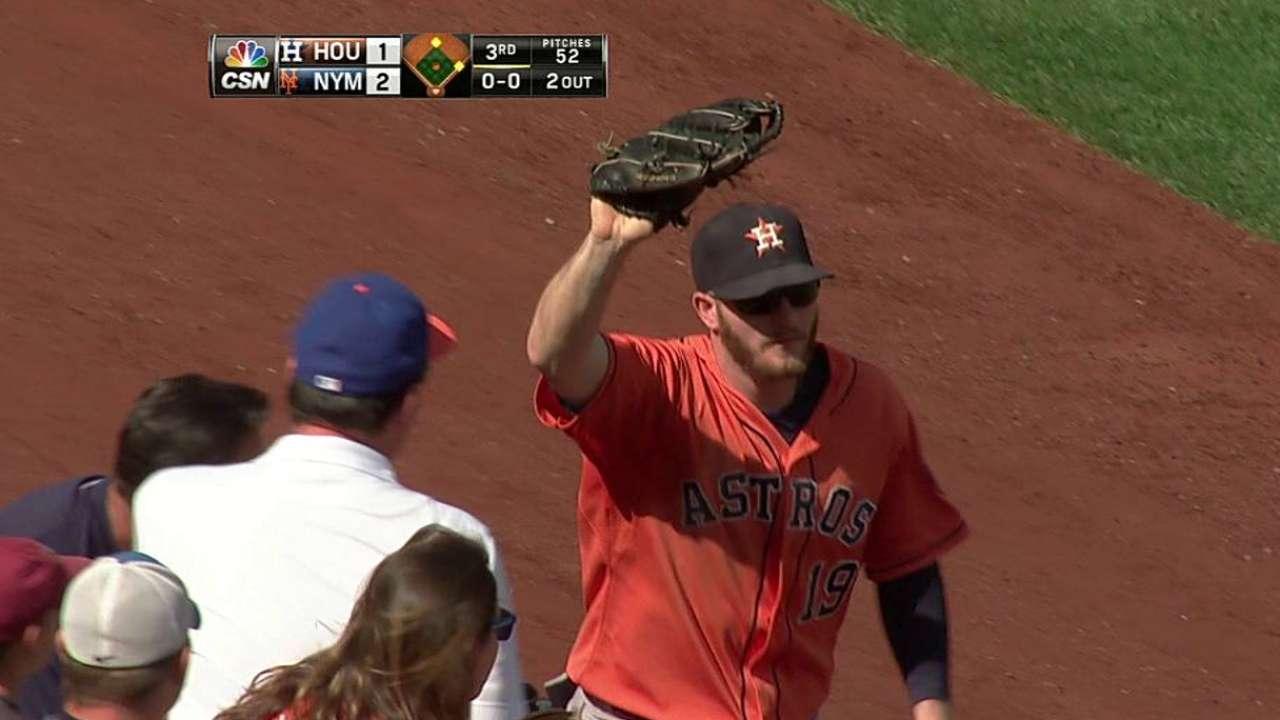 Grossman's catch in the seats
