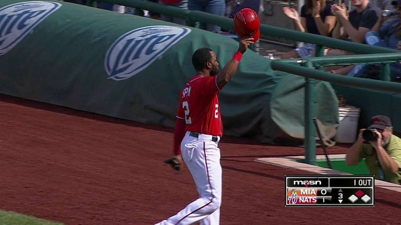 Nationals exercise option on Span
