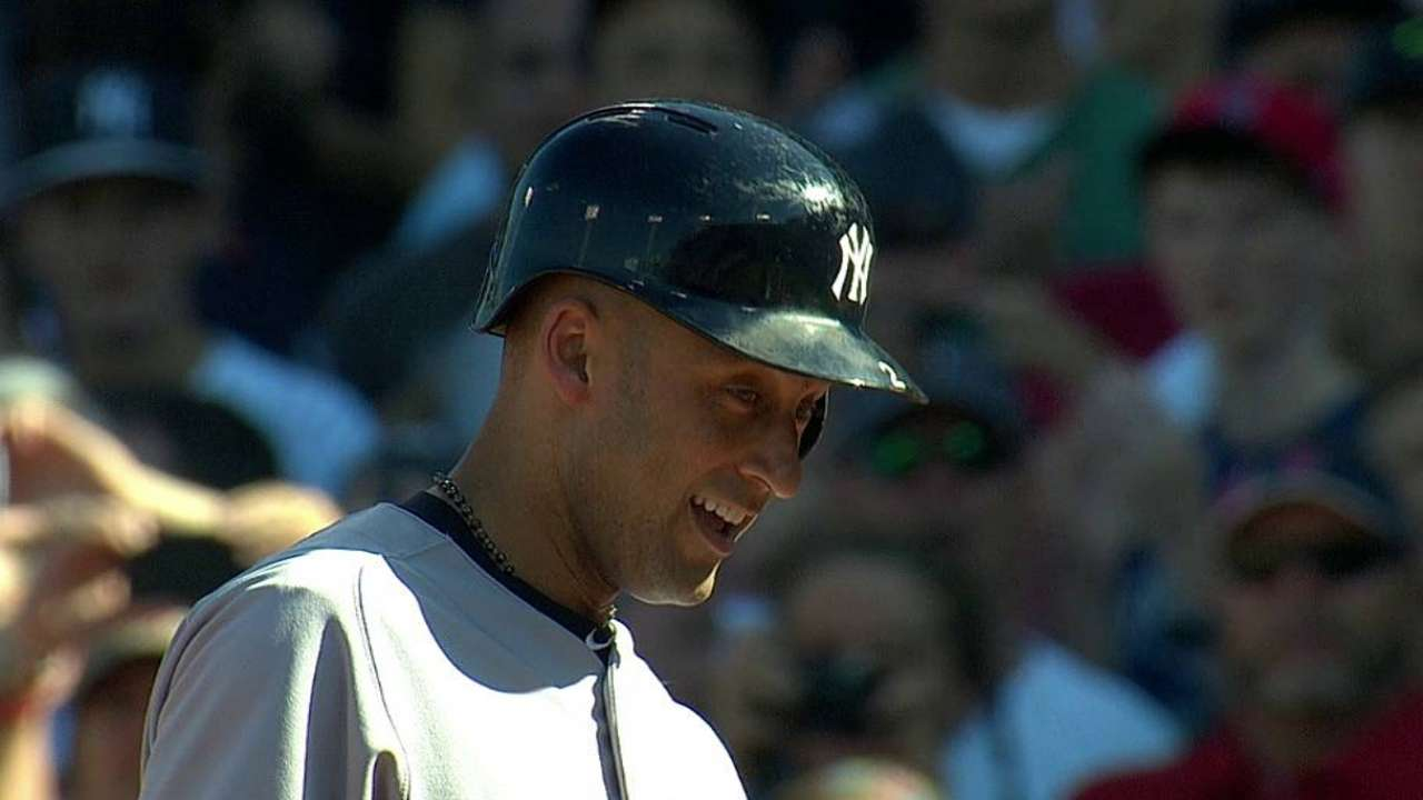 Final act: Jeter collects RBI single, then exits