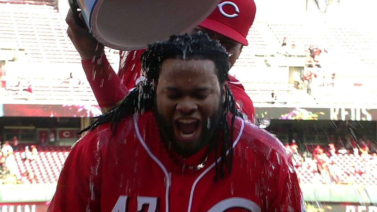 Cueto first Reds hurler with 20 victories since '88