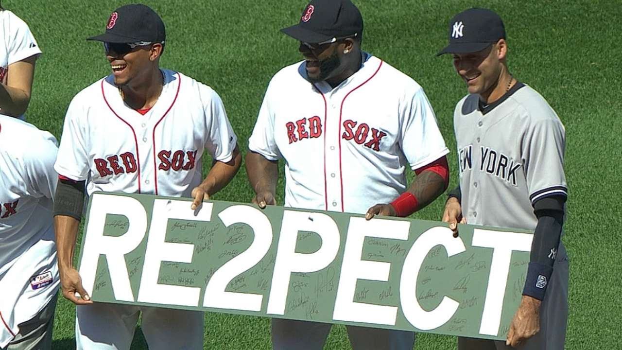 Red Sox toast Jeter with exceptional ceremony