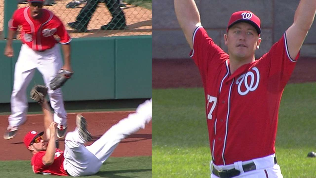 Souza saves Zimm's no-no with spectacular catch