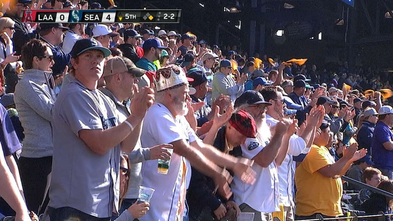 Mariners' fans salute their team
