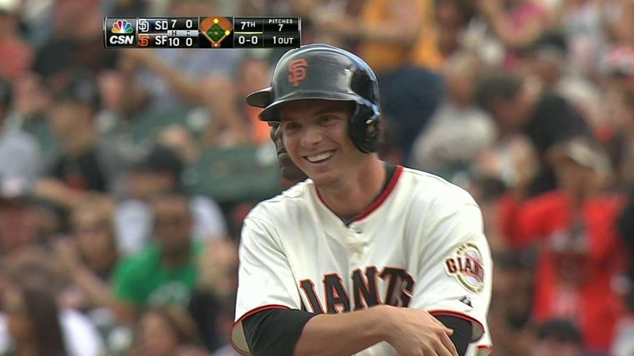 Brown's first Major League RBI