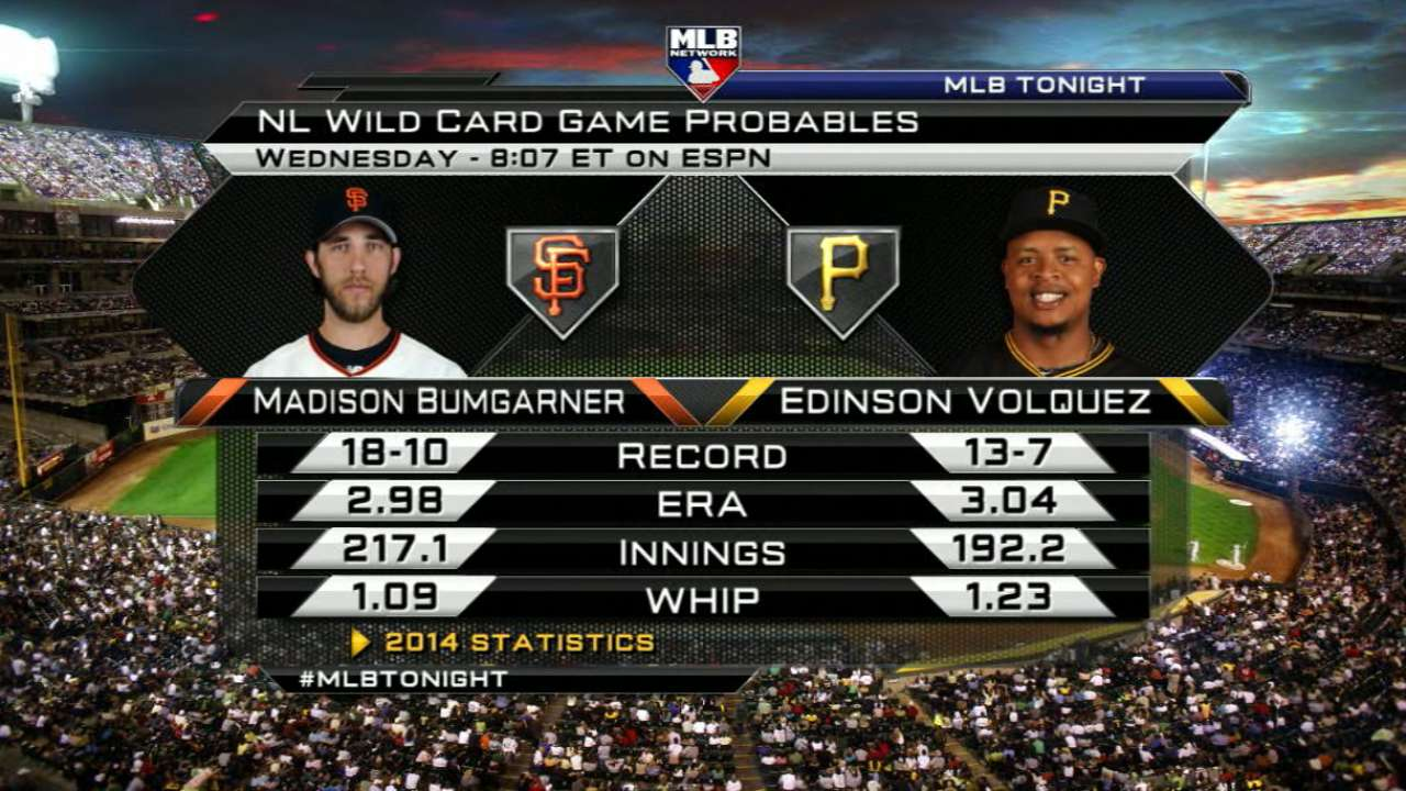 Position-by-position breakdown for Giants-Pirates