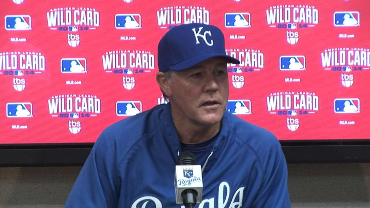 Royals' Wild Card roster likely to be bench heavy