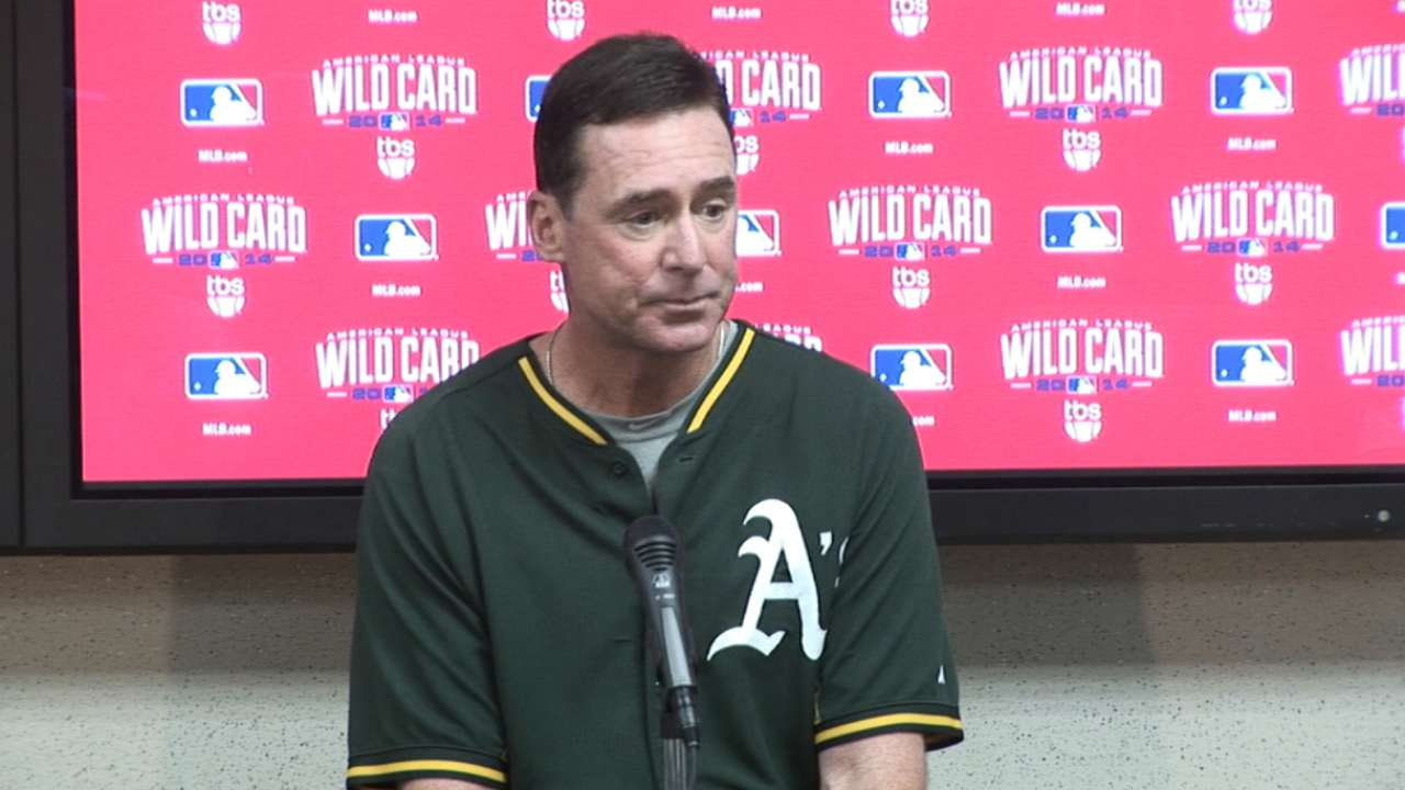 A's game plan is to slow down speedy Royals