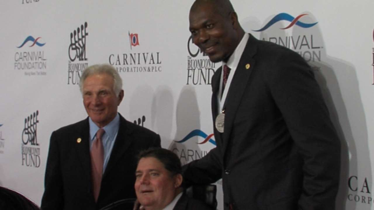 Martinez honored at Great Sports Legends Dinner