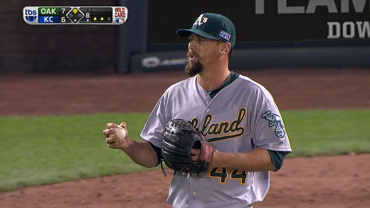 Gregerson fans two to end threat