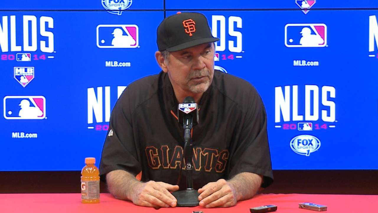 Oct. 2: Bruce Bochy workout day interview