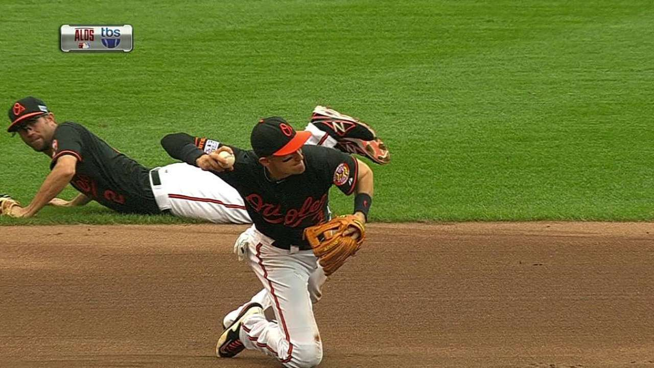 Facing heart of Tigers' order, O's turn sparkling double play