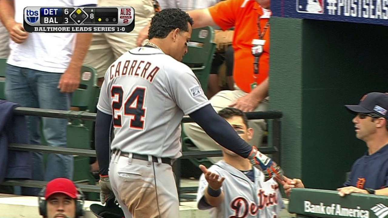 Potential big inning dashed by Miggy's dash
