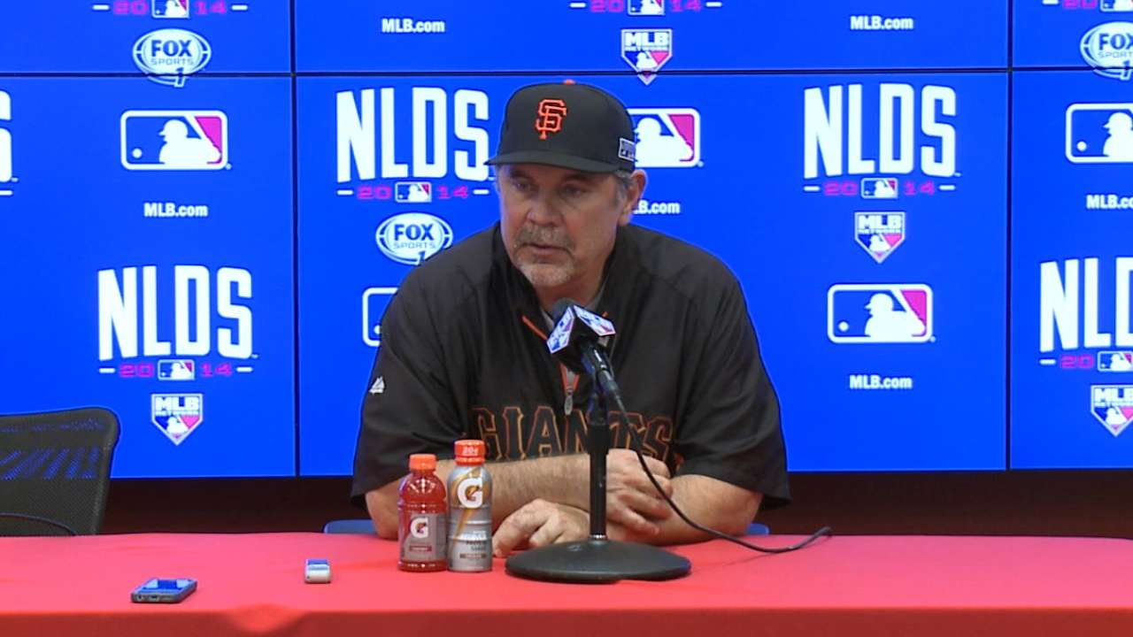 Oct. 3 Bruce Bochy postgame interview