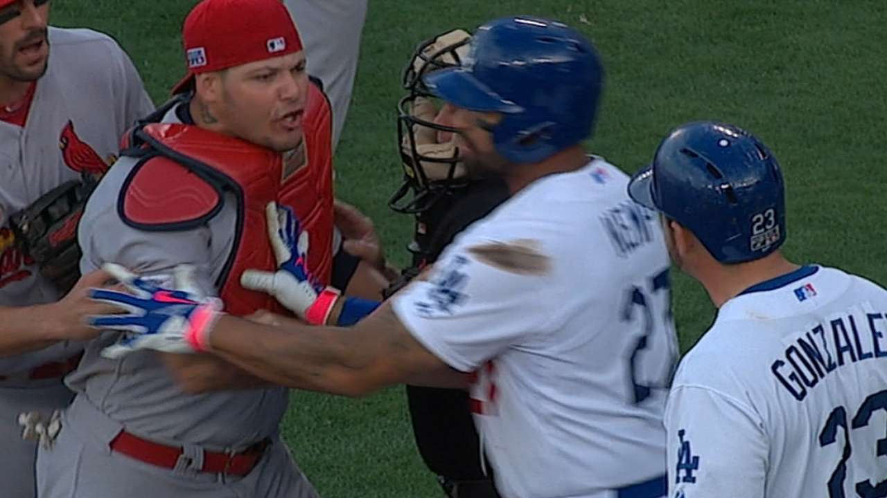 MLB not issuing discipline for Cards-Dodgers incident
