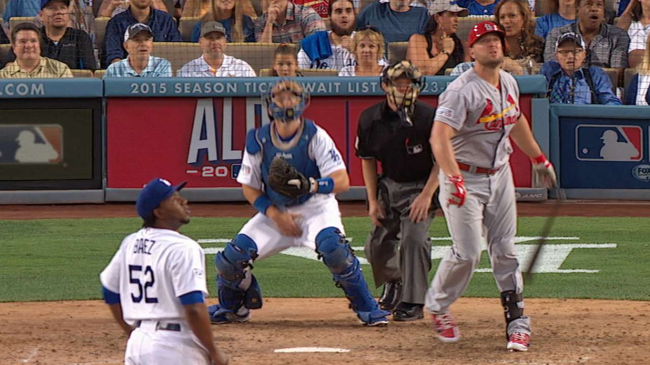 Cards flush out LA's ace with eight-run burst