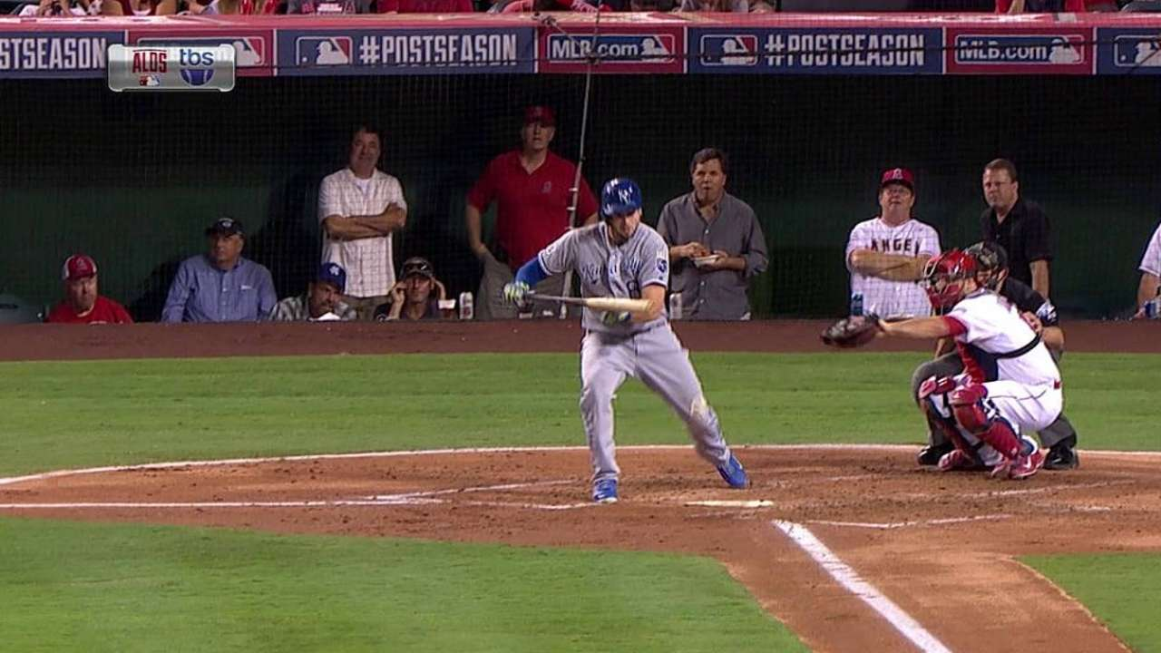Moose beats shift with bunt