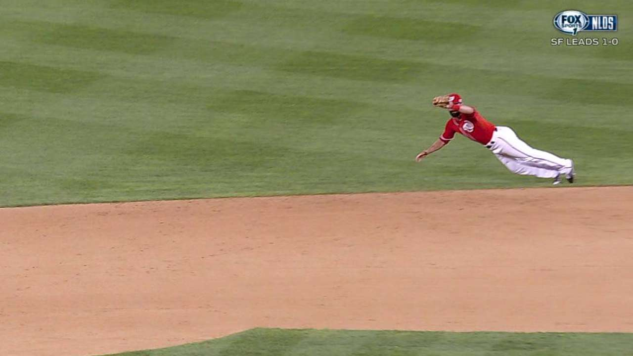 Espinosa's diving catch