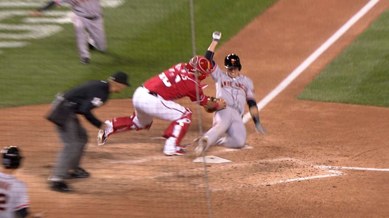 Must C: Giants tie, Posey out