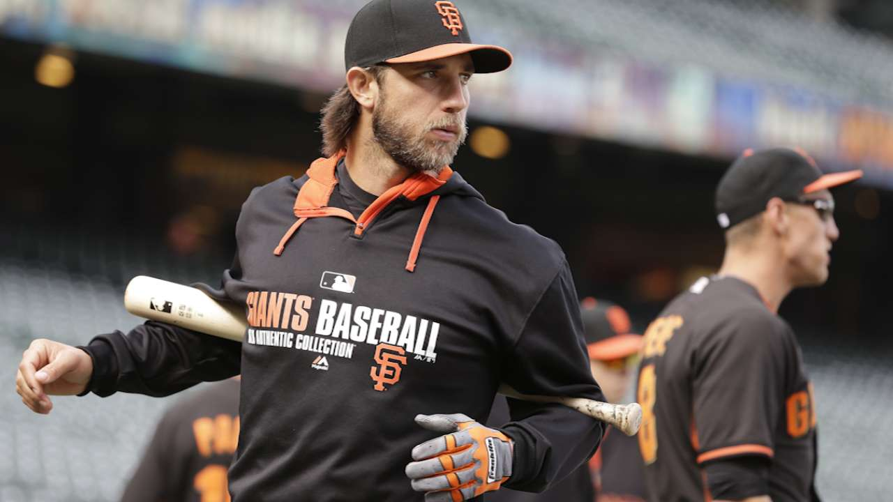 Oct. 5 Madison Bumgarner workout day interview