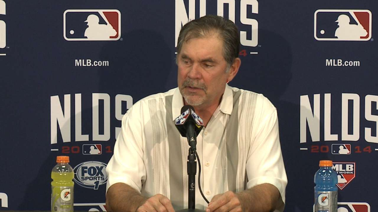 Oct. 5 Bruce Bochy workout day interview