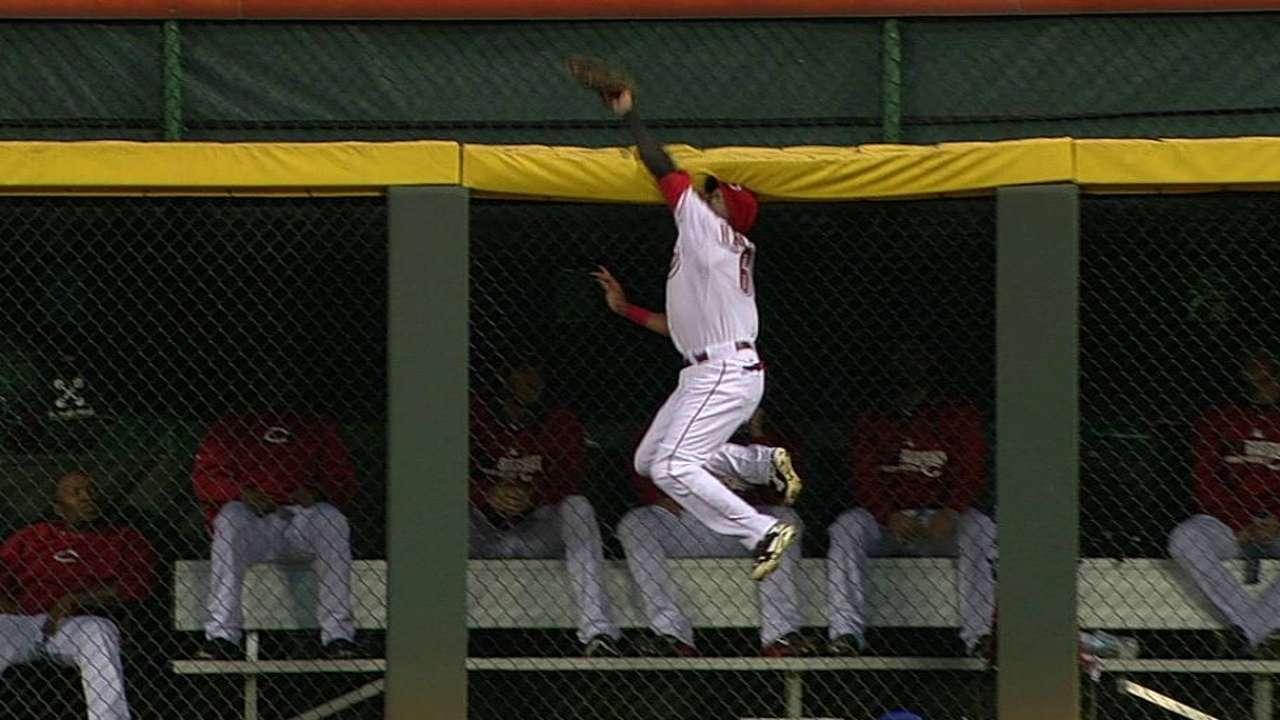 Hamilton's outstanding catch