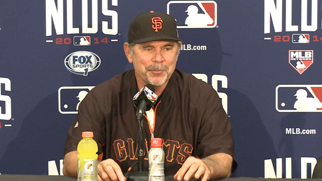 Oct. 6 Bruce Bochy postgame interview