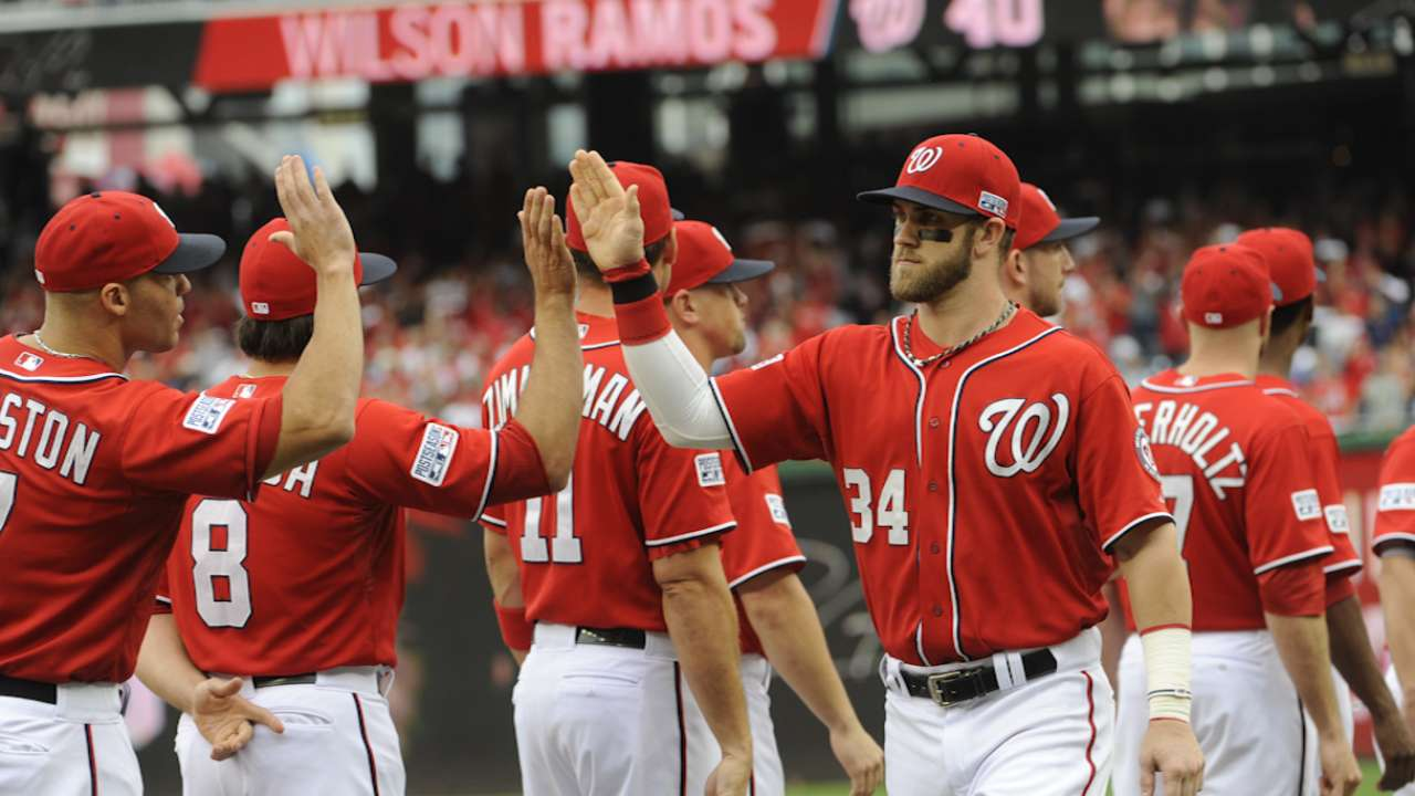 Oct. 6 Bryce Harper and Doug Fister postgame interview